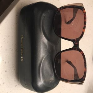 House of Harlow 1960 Tortoise and Gold Sunglasses